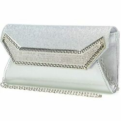 Rhinestone Clutch Purses For Women Evening Bags And Clutches Bag Silver $38.95