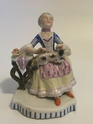 Vintage Figurine Women with Dog