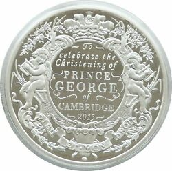2013 Royal Mint George Christening Andpound10 Ten Pound Silver Proof 5oz Coin