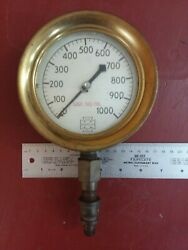 Us Gauge Co New York Gage And Valve Inspector Railroad Steampunk Train 1000 Psi
