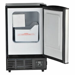 Smeta Commercial Ice Maker Machine Undercounter Ice Cube Freezer Stainless Steel