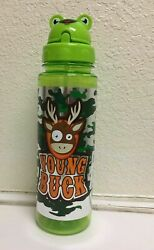 Brand New Young Buck Printed Plastic Water Bottle Free Shipping
