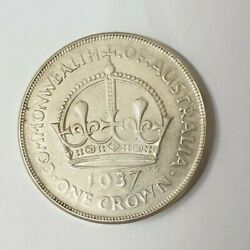 Australia 1937 Crown Error Variety . Faint In The 2 Legends And The Date