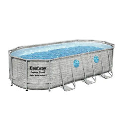 Bestway 18ft X 9ft X 48 Inch Swimming Pool Set With Pump And Maintenance Kit