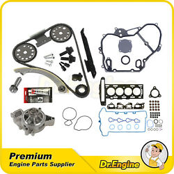 Head Gasket Bolts Set Timing Chain Water Pump Cover Kit For 07-08 Chevy Hhr 2.2l