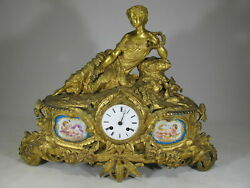 Antique French Japy Freres Sevres Bronze Clock