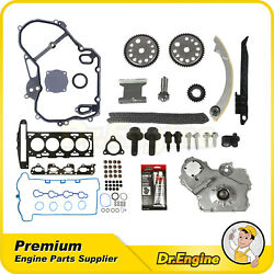 Timing Chain Oil Pump Cover Kit Andhead Gasket Set Fit 07 08 Chevy Cobalt Hhr 2.2l