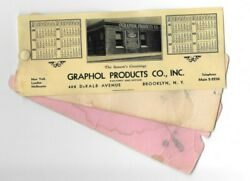 Vintage Celluloid Blotter 1933 Calendar Graphol Products Photo Brooklyn Ny