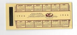 Vintage Celluloid Blotter 1946 Calendar Lawrence And Erausquin Sales Toledo Oh