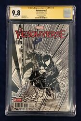 Venomverse 1 Remastered Sketch Edition 12000 Cgc Ss 9.8 Signed By Stan Lee