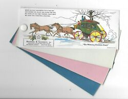 Vintage Celluloid Blotter Andrews And Goodrich Industrial Boston Christmas Coach