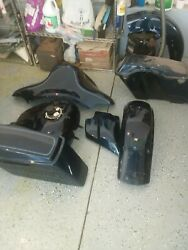 Lot Of 2013 Harley Classic Fuel Tank, Cowl, Front And Rear Fender Saddle Bags