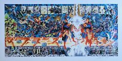 Alex Ross Rare Crisis Pp 11 Giclee Paper Signed 2x George Perez Unframed Wbss