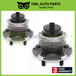 Rear Wheel Hub And Bearing Assembly Pair For Toyota Pontiac Corolla W/abs 512217