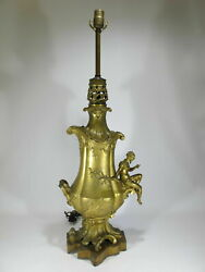 Antique French Bronze Table Lamp Base