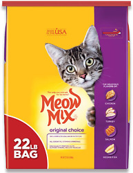Original Choice Dry Cat Food 22 Lb. Bag Meow Mix Provides Balanced Nutrition