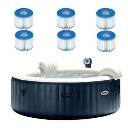 Intex Purespa Inflatable 6 Person Hot Tub With 6 Type S1 Filter Cartridges