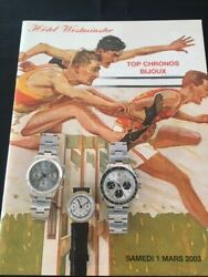 Watch Auction Catalog / Catalogue Dand039enchandegraveres Montres Hotel Westminster Mars 2003