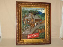 1950's Early Times Whisky Distillery Advertising Sign-wood Framed,molded Plaster