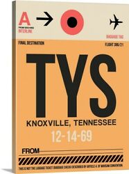 Tys Knoxville Luggage Tag I Canvas Wall Art Print, Tennessee Home Decor