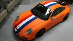 Holland France Flag Style Vinyl Hood Top Tail Sticker For Porsche Boxster718 911