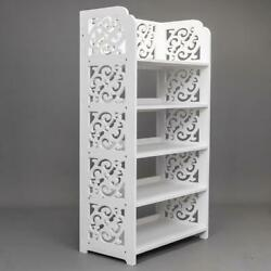 5 Tier Heavy Duty Storage Bookcase Organizer Standing Shoe Rack Shelf Cabinet