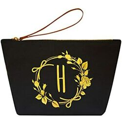 Birthday Gifts For Women Personalized Monogrammed Cosmetic Bag H Initial Travel $21.93