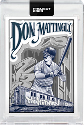 Topps Project 2020 95 Don Mattingly 1984 Topps 8 - Mister Cartoon In Stock