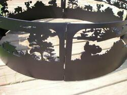 Themed Fire Pit Ring Several Models 3 Sizes To Chose From. Hitemp Powder Coated