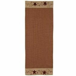 Stars And Berries 54 Table Runner - Great Gift Idea Country Rustic Look Home