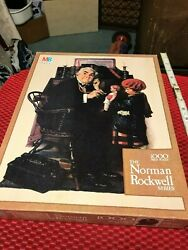 Mb Norman Rockwell Series Textured Jigsaw Puzzle Doctor And Doll100 Piece