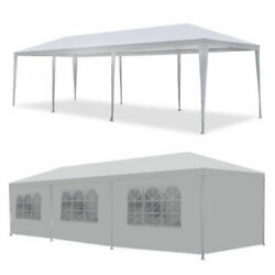 Canopy Party Tent Wedding Outdoor Pavilion 10'x30' Gazebo Cater Bbq Waterproof