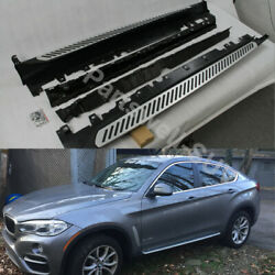 Fits For Bmw X6 F16 2015-2019 Running Boards Side Steps Pedal Nerf Protector Bar