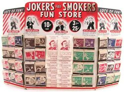 Vintage Old Novelty Gag Jokers Smokers Matchbook Trick Matches Store Display