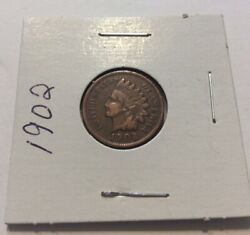 1902 Indian Head Penny Good One Cent Coin 1¢ Exact Coin Shown Estate Find