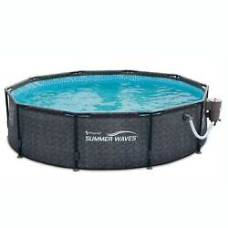 Summer Waves 10and039 X 30 Outdoor Round Frame Above Ground Swimming Pool With Pump