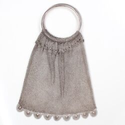 Vintage Sterling Silver Mesh Purse! Beautiful Layered Design! $375.00