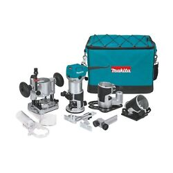 Makita Rt0701cx3 Compact Router Kit 1 1/4 Hp Variable Speed Slim Ergonomic New