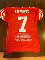 Colin Kaepernick Record Breaking Jersey 25/100 With Certificate Of Authenticity