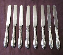 Unknown 8 Hollow Handle Breakfast Knife Silverplate 19th C No Monograms