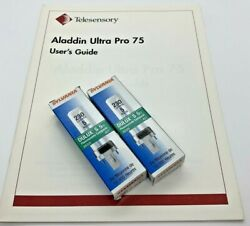 Telesensory Aladdin Ultra Pro 75 Vision Magnifier Man+2 Bulbs Parts Available