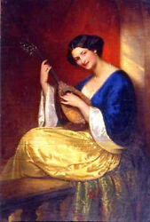 High Quality Oil Painting 100 Handpainted On Canvas Mandoline Player