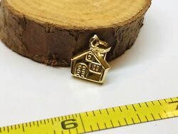 Vintage 14k Yellow Gold Travel Lodge Cabin Charm Pendent