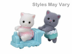 Calico Critters #CC1866 GRAY amp; WHITE PERSIAN CAT TWINS New in Box