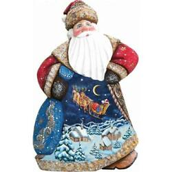 G.debrekht 8214813 Woodcarving Up Up And Away Dance Santa 8 In. - Woodcarved Santa
