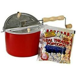 Wabash Valley Farms 26001ds Barn Red Whirley-poptm Real Theater Popping Kit