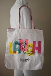 Benefit Cosmetics Print Laughter is the Best Cosmetic Large Canvas Tote Bag $10.00