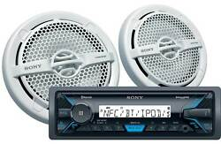 Sony Marine Digital Media Receiver With Bluetooth Capability And Two Speakers