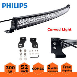 Curved 52inch 300w Led Light Bar Combo Lamp Off-road 4wd Boat Atv Truck Driving