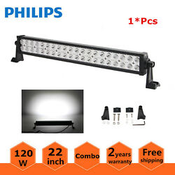 22inch 120w Led Light Bar Combo Work Lights 4wd Suv Driving Offroad Slim 20/24